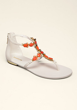 bebe Dayna Jeweled Flat Sandals