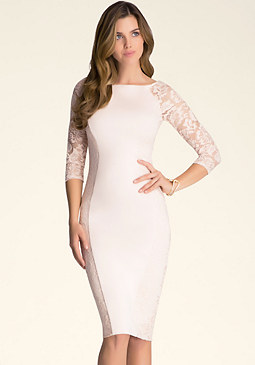 Petite Lace Midi Dress at bebe