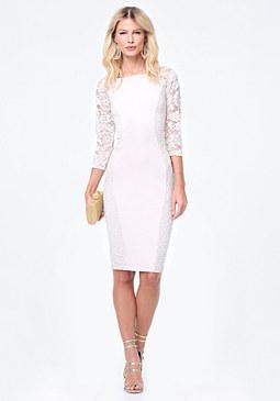 Petite Lace Midi Dress at bebe