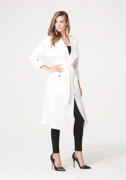bebe Silk Duster Coat
