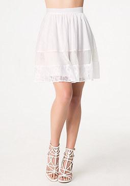 bebe Chloe Lace & Mesh Skirt