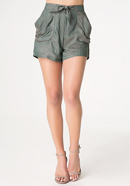 bebe Slouch Pocket Shorts