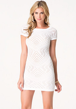bebe Evelyn Lace Dress