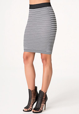 bebe Summer Stripe Pencil Skirt