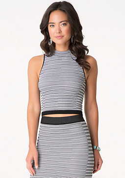 bebe Summer Stripe Top