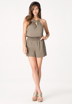 bebe Necklace Halter Romper