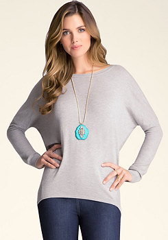 bebe Mixed Stitch Sweater