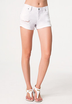 bebe Destructed Boyfriend Shorts