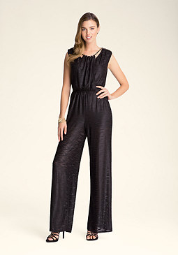 bebe Braid Neck Jumpsuit