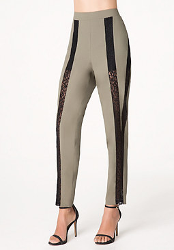 bebe Lace Inset Easy Pants