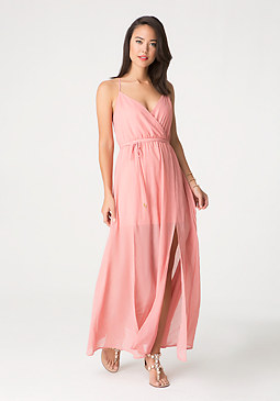 bebe Embellished Maxi Dress