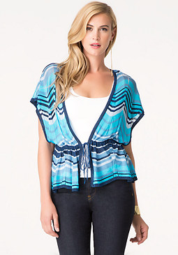 bebe Sparkle Chevron Cover Up