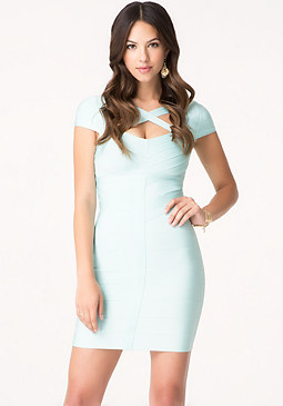 bebe Cross Front Bandage Dress