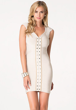 bebe Stud Detail Bandage Dress
