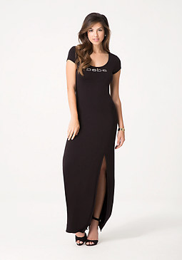 bebe Lace Up Back Maxi Dress