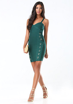 bebe Buckle Bandage Dress