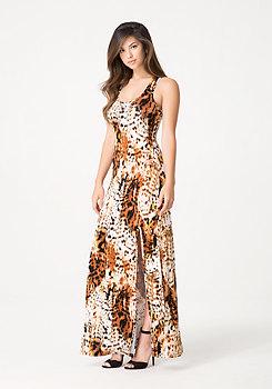 bebe Cheetah Queen Maxi Dress