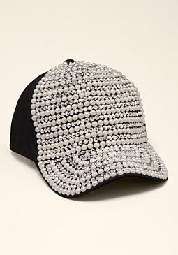 bebe Pearl & Stud Baseball Cap