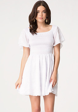 bebe Smocked Babydoll Dress