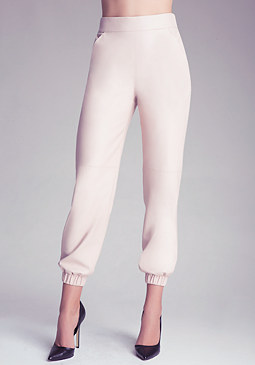 bebe Faux Leather Detail Pants