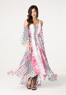 bebe Empress Kaftan Maxi Dress