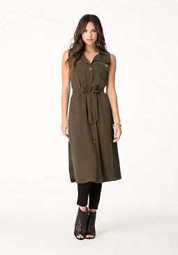bebe Meena Duster Trench Coat