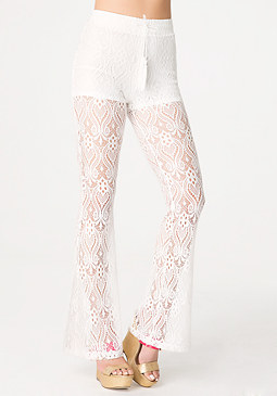 bebe Lace Bootcut Leggings