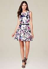 bebe Majesty Fit & Flare Dress
