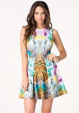 bebe Majesty Fit & Flare Dress
