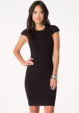 bebe Faux Suede Detail Dress