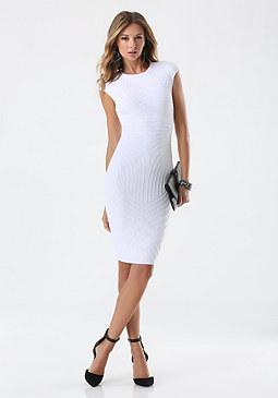bebe Textured Midi Dress