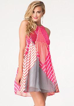bebe Smocked Babydoll Dress