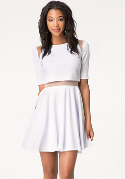 bebe 2-Fer Fit & Flare Dress