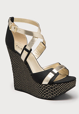 bebe Nadina Strappy Wedges