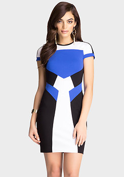 bebe Colorblock Ponte Dress