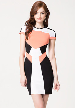 bebe Colorblock Ponte Dress