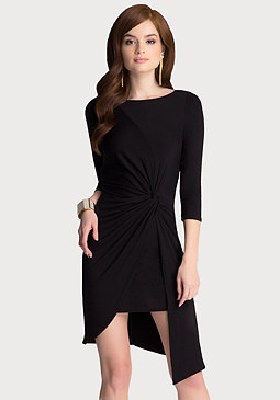 bebe Twist Knot Wrap Dress