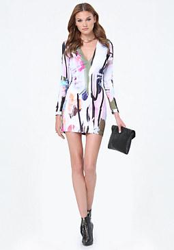 Print Scuba Dress at bebe