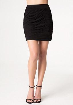 bebe Denise Ruched Miniskirt