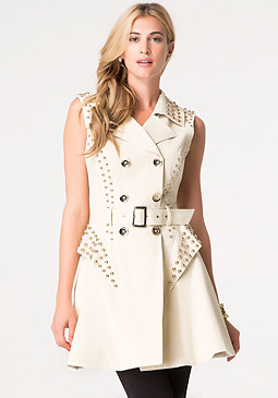 bebe Teva Studded Trench Vest