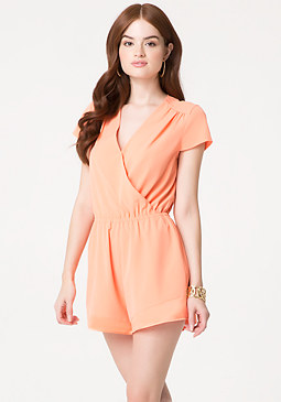 bebe Surplice Day Romper