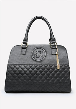 bebe Evy Quilted Satchel