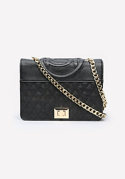bebe Evy Quilted Crossbody Bag