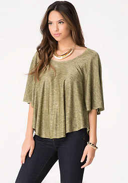 bebe Golden Butterfly Top