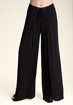 bebe Release Tuck Wide Leg Pants