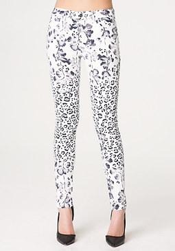 bebe Print Skinny Jeans