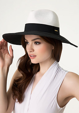 bebe Colorblock Floppy Hat