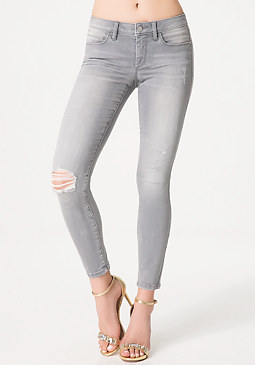bebe Grey Heartbreaker Jeans