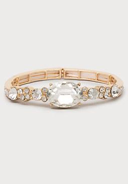 bebe Oval Rhinestone Bracelet