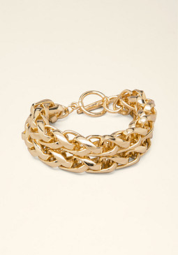 bebe Rope Chain Toggle Bracelet